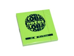 Бумага для заметок GLOBAL NOTES 75 х 75 мм, 80л, цвет зеленый неон