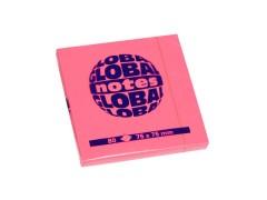 Бумага для заметок GLOBAL NOTES 75 х 75 мм, 80л, цвет розовый неон