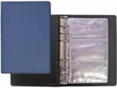 Визитница на 24 визитки, разм.7х11,5 см, PVC, арт. 03-0730-2, цвет синий