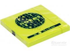 Бумага для заметок GLOBAL NOTES 75 х 75 мм, 80л, цвет желтый неон