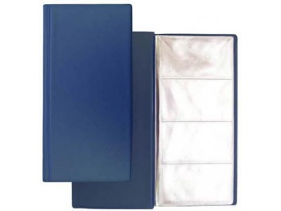 Визитница на 96 визиток, разм.12х24,5 см,  PVC, арт. 03-1160-2, синий