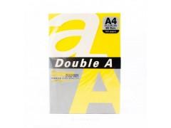 Бумага цветная DOUBLE A, А4, 80 г/м, 100 листов, цвет ярко-желтый