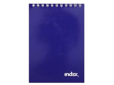 Блокнот INDEX, серия Office classic, на гребне, кл., ламиниров. обл., ф. А5, 40 л., арт. INLcl-5/40 цвет синий