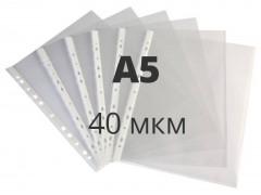 Папка-вкладыш А5 формат !!!!!!!!!Бюрократ Премиум -013A5T тисненые А5 40мкм (упак.:100шт)