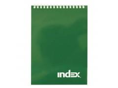 Блокнот INDEX, серия Office classic, на гребне, кл., ламиниров. обл., ф. А5, 40 л., арт. INLcl-5/40 цвет зеленый
