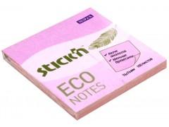 Блок самоклеящийся бумажный Stick`n ECO 76x76мм 100лист. 60г/м2 цвет розовый
