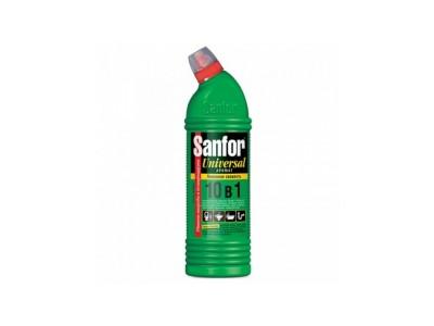 Средство чистящее для сантехники Sanfor Универсал Лимонная свежесть, 750г.