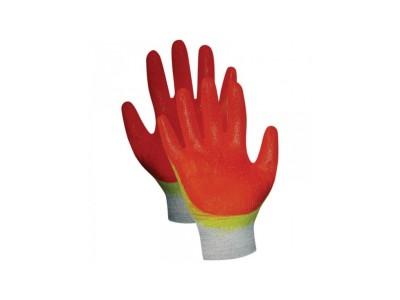 Перчатки трикотажные рабочие х/б, двойной латексный облив, 13 кл.вязки