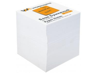 Бумажный блок 9х9х9, офсет, проклеенный, в термопленке, белый, арт 003004800
