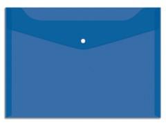 Папка-конверт на кнопке OfficeSpace А4, 150мкм, цвет синий