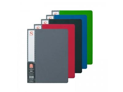 Папка с 30 файлами, форзац, ф.А4, ассорти, арт. SDB30/ASS