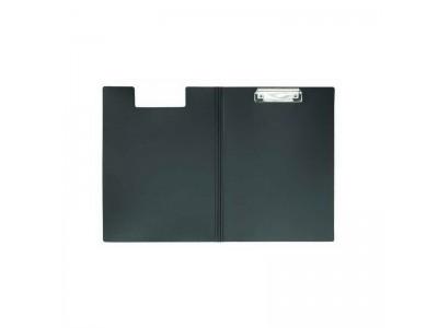 Клип-борд METALLIC, двойной, ф.А4, пластик, INDEX, цвет черный