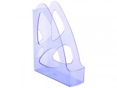 Лоток для бумаг ПАРУС GLOSS, вертикальный, тонированный голубой