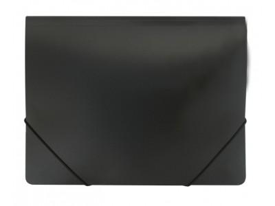 Папка-конверт на резинках, ф.A4, ассорти, Workmate, цвет черный