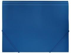 Папка-конверт на резинках, ф.A4, ассорти, Workmate, цвет синий