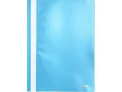 Папка-скоросшиватель, цвета ассорти, ф. А4, Index, цвет голубой