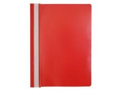 Папка-скоросшиватель Silwerhof 255082 A4 прозрач.верх.лист , 0.10/0.12мм, цвет красный