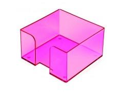 """Подставка для бумажного блока, разм. 9х9х5 см, тонированная """"Слива"""", арт. ПЛ52"""