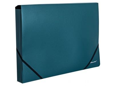 Папка на резинке Silwerhof Perlen 3219325 A4 песок полипропилен 0.45мм, цвет зеленый металлик