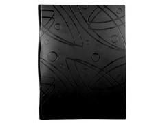Папка с метал.пруж.скоросш. Бюрократ Galaxy -GA07PBLCK A4 пластик 0.7мм черный