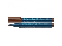 Маркер Schneider 130 перманентный 1-3 мм, цвет коричневый