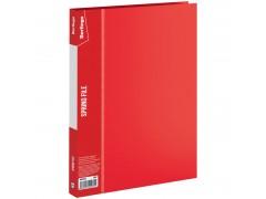 """Папка с пружинным скоросшивателем Berlingo """"Standard"""", 17мм, 700мкм, арт. MH2333, цвет красный"""