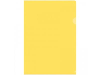 Папка-уголок OfficeSpace, А4, 150мкм, цвет желтый