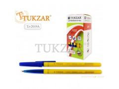 Ручка шариковая, 0,7 mm, цвет чернил - СИНИЙ, желтый корпус, арт. TZ 2019 A