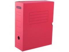 Короб архивный с клапаном, микрогофрокартон, 100мм, ассорти, арт. A-GBL100C_1775, цвет красный