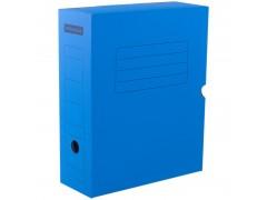 Короб архивный с клапаном, микрогофрокартон, 100мм, ассорти, арт. A-GBL100C_1775, цвет синий