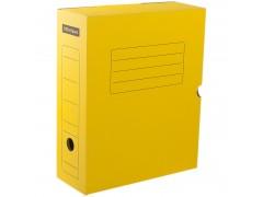 Короб архивный с клапаном, микрогофрокартон, 100мм, ассорти, арт. A-GBL100C_1775, цвет желтый