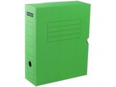 Короб архивный с клапаном, микрогофрокартон, 100мм, ассорти, арт. A-GBL100C_1775, цвет зеленый