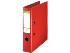 Папка-регистратор 75 мм, А4, ПВХ Эко, YESЛи,  цвет красный