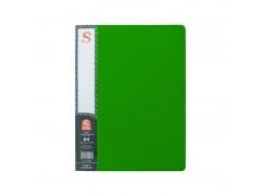 Папка с 40 файлами, SPONSOR, форзац, ф.А4, зеленая, арт. SDB40/GN