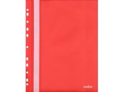 Папка-скоросшиватель с европланкой, ф.А4, красная, арт. 319/01/R