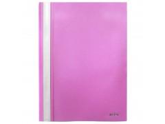 Папка-скоросшиватель, цвета ассорти, ф. А4, Index, цвет розовый