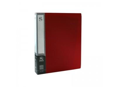 Папка с 60 файлами, форзац, ф.А4, ассорти, арт.SDB60/ASS, цвет красный