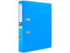 Папка-регистратор COLOURPLAY, 50 мм, ламинированная, неоновая, цвет голубой
