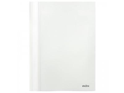 Папка-скоросшиватель, цвета ассорти, ф. А4, Index, цвет белый