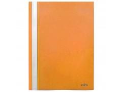 Папка-скоросшиватель, цвета ассорти, ф. А4, Index, цвет оранжевый