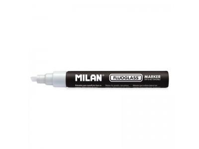 """Маркер меловой Milan """"Fluoglass"""", 2-4 мм, водная основа, цвет белый"""