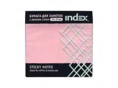 Бумага для заметок с липким слоем, разм. 76х75 мм, 100 л, цвет светло-розовый