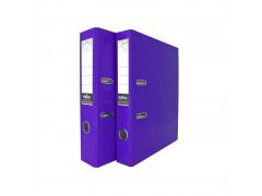 Папка-регистратор COLOURPLAY, 50 мм, ламинированная, неоновая, цвет фиолетовый