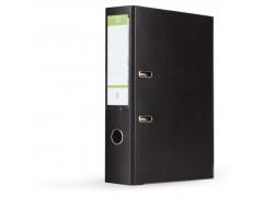 Папка-регистратор 75 мм, А4, ПВХ Эко, YESЛи,  цвет черный