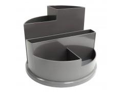 Подставка для канц. принадлежностей, круглая, арт. SS01, цвет серый