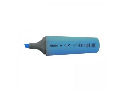 """Текстовыделитель Milan """"Fluo"""" 1-5мм, цвет голубой"""