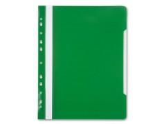 Папка-скоросшиватель Бюрократ -PS-P20 A4 прозрач.верх.лист боков.перф. пластик, 0.12/0.16, цвет зеленый