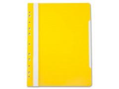 Папка-скоросшиватель Бюрократ -PS-P20 A4 прозрач.верх.лист боков.перф. пластик, 0.12/0.16, цвет желтый