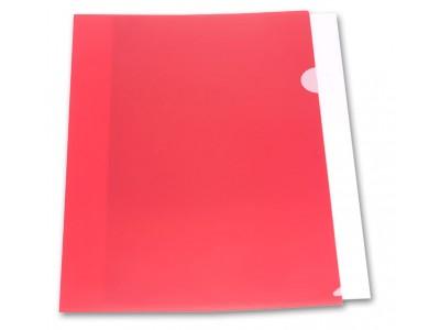 Папка-уголок Бюрократ -E310 A4 пластик 0.18мм , цвет красный