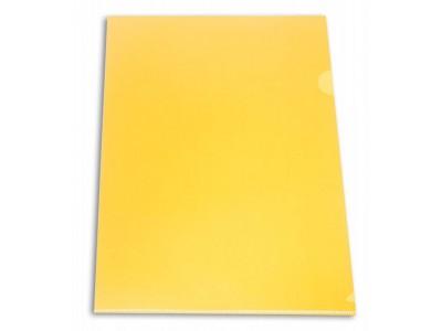 Папка-уголок Бюрократ -E310 A4 пластик 0.18мм , цвет желтый